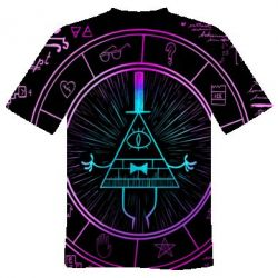 Чоловіча 3D футболка Neon Bill Cipher - FatLine