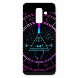 Чохол для Samsung A6+ 2018 Neon Bill Cipher - FatLine
