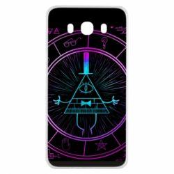 Чохол для Samsung J7 2016 Neon Bill Cipher - FatLine