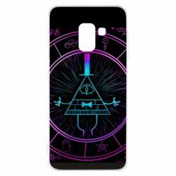 Чохол для Samsung A8 2018 Neon Bill Cipher - FatLine