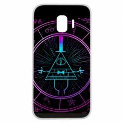 Чохол для Samsung J2 2018 Neon Bill Cipher - FatLine