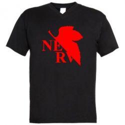 Чоловіча футболка з V-подібним вирізом Нерв