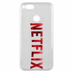 Чехол для Xiaomi Mi A1 Netflix logo text