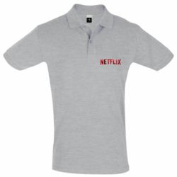 Мужская футболка поло Netflix logo text