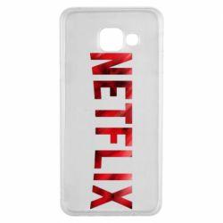 Чехол для Samsung A3 2016 Netflix logo text