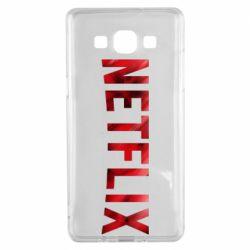 Чехол для Samsung A5 2015 Netflix logo text