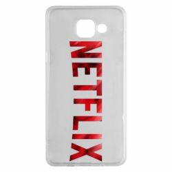 Чехол для Samsung A5 2016 Netflix logo text