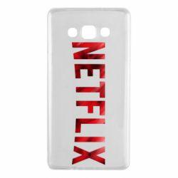 Чехол для Samsung A7 2015 Netflix logo text