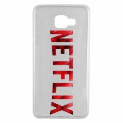 Чехол для Samsung A7 2016 Netflix logo text