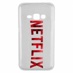 Чехол для Samsung J1 2016 Netflix logo text