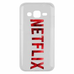 Чехол для Samsung J2 2015 Netflix logo text