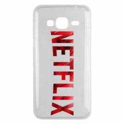 Чехол для Samsung J3 2016 Netflix logo text