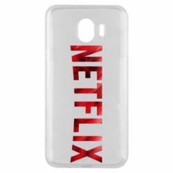 Чехол для Samsung J4 Netflix logo text