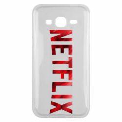 Чехол для Samsung J5 2015 Netflix logo text