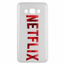 Чехол для Samsung J5 2016 Netflix logo text