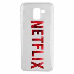 Чехол для Samsung J6 Netflix logo text