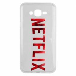 Чехол для Samsung J7 2015 Netflix logo text
