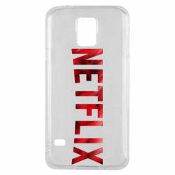 Чехол для Samsung S5 Netflix logo text