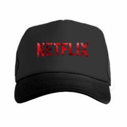 Кепка-тракер Netflix logo text
