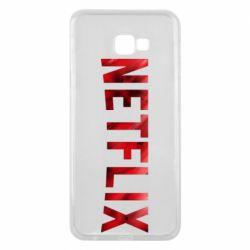 Чехол для Samsung J4 Plus 2018 Netflix logo text