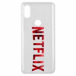 Чехол для Xiaomi Mi Mix 3 Netflix logo text