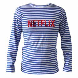 Тельняшка с длинным рукавом Netflix logo text