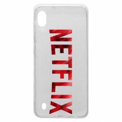 Чехол для Samsung A10 Netflix logo text