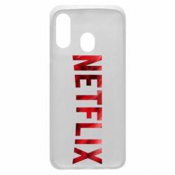 Чехол для Samsung A40 Netflix logo text