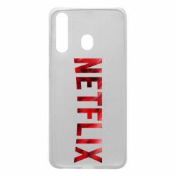 Чехол для Samsung A60 Netflix logo text