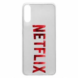Чехол для Samsung A70 Netflix logo text
