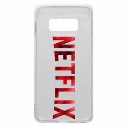 Чехол для Samsung S10e Netflix logo text