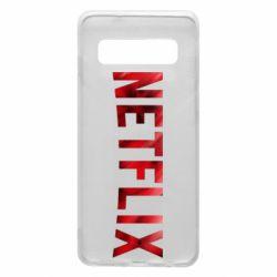 Чехол для Samsung S10 Netflix logo text