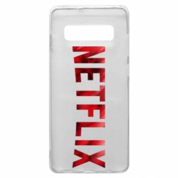 Чехол для Samsung S10+ Netflix logo text