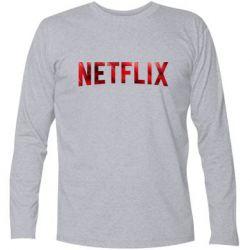 Футболка с длинным рукавом Netflix logo text