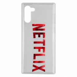 Чехол для Samsung Note 10 Netflix logo text