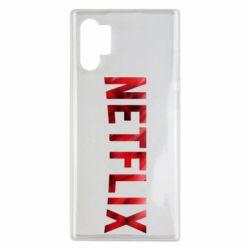 Чехол для Samsung Note 10 Plus Netflix logo text