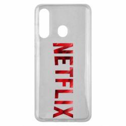Чехол для Samsung M40 Netflix logo text