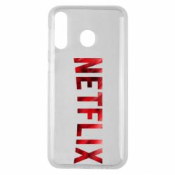 Чехол для Samsung M30 Netflix logo text