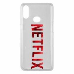 Чехол для Samsung A10s Netflix logo text