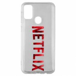 Чехол для Samsung M30s Netflix logo text