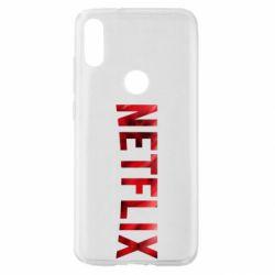 Чехол для Xiaomi Mi Play Netflix logo text
