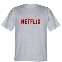 Мужская футболка Netflix logo text