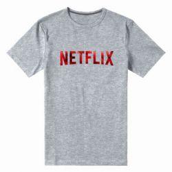 Мужская стрейчевая футболка Netflix logo text