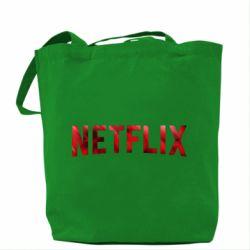 Сумка Netflix logo text