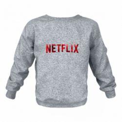 Детский реглан (свитшот) Netflix logo text