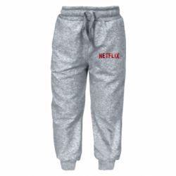 Детские штаны Netflix logo text