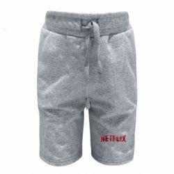 Детские шорты Netflix logo text