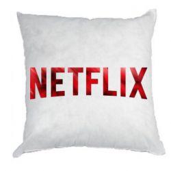 Подушка Netflix logo text