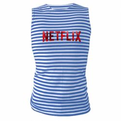 Майка-тельняшка Netflix logo text