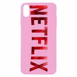 Чехол для iPhone X/Xs Netflix logo text